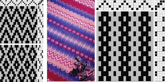 3 brefs d'armure illustrant le chemin de roses et représentation d'un tissu